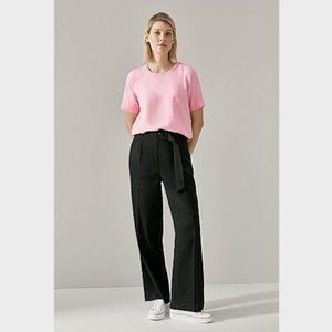 Trenery Pink Lyocell Woven T-Shirt Top S